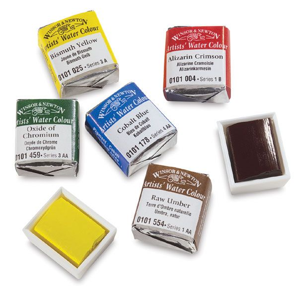 Winsor Newton Professional Watercolor Half Pans Winsor And