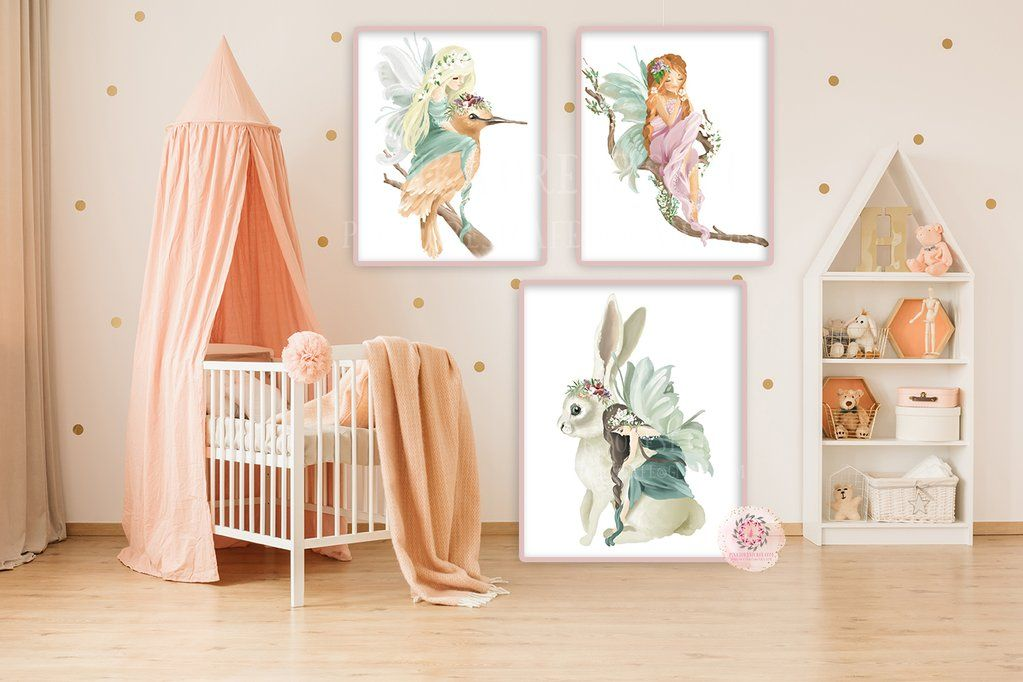 Fairy Print Baby Nursery Wall Art