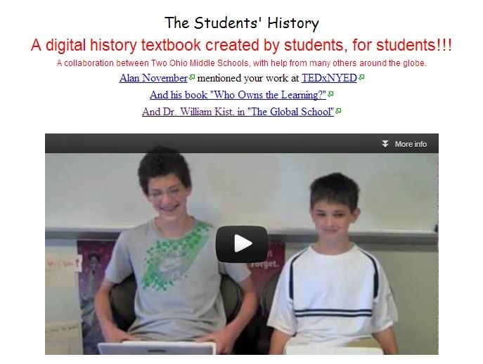 Online History Textbook Wiki Created By Middle School Students