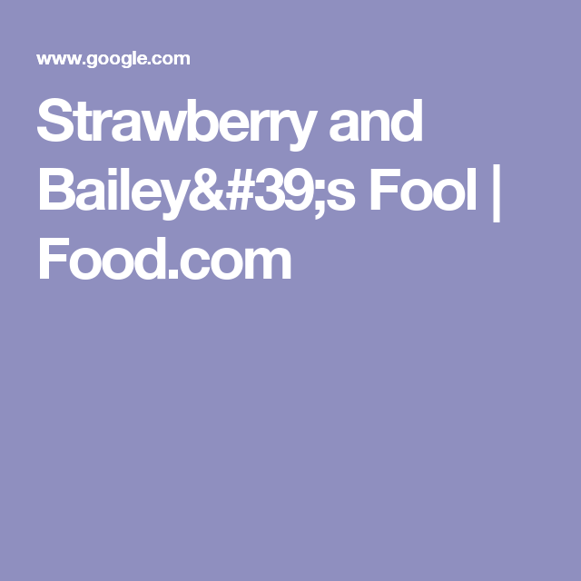 Strawberry and Bailey's Fool   Food.com