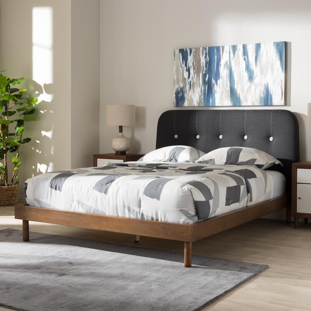 Baxton studio sadie dark gray king platform bed288627725