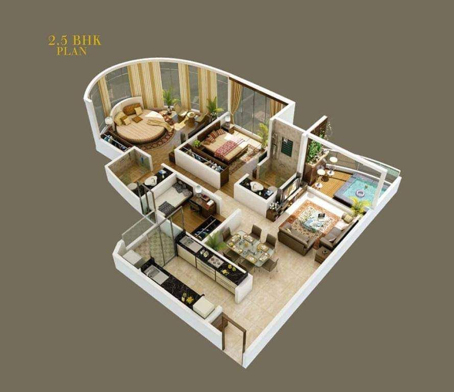 3d Floor Plan Floor Plan Design Kitchen Interior Design Modern Plan Design