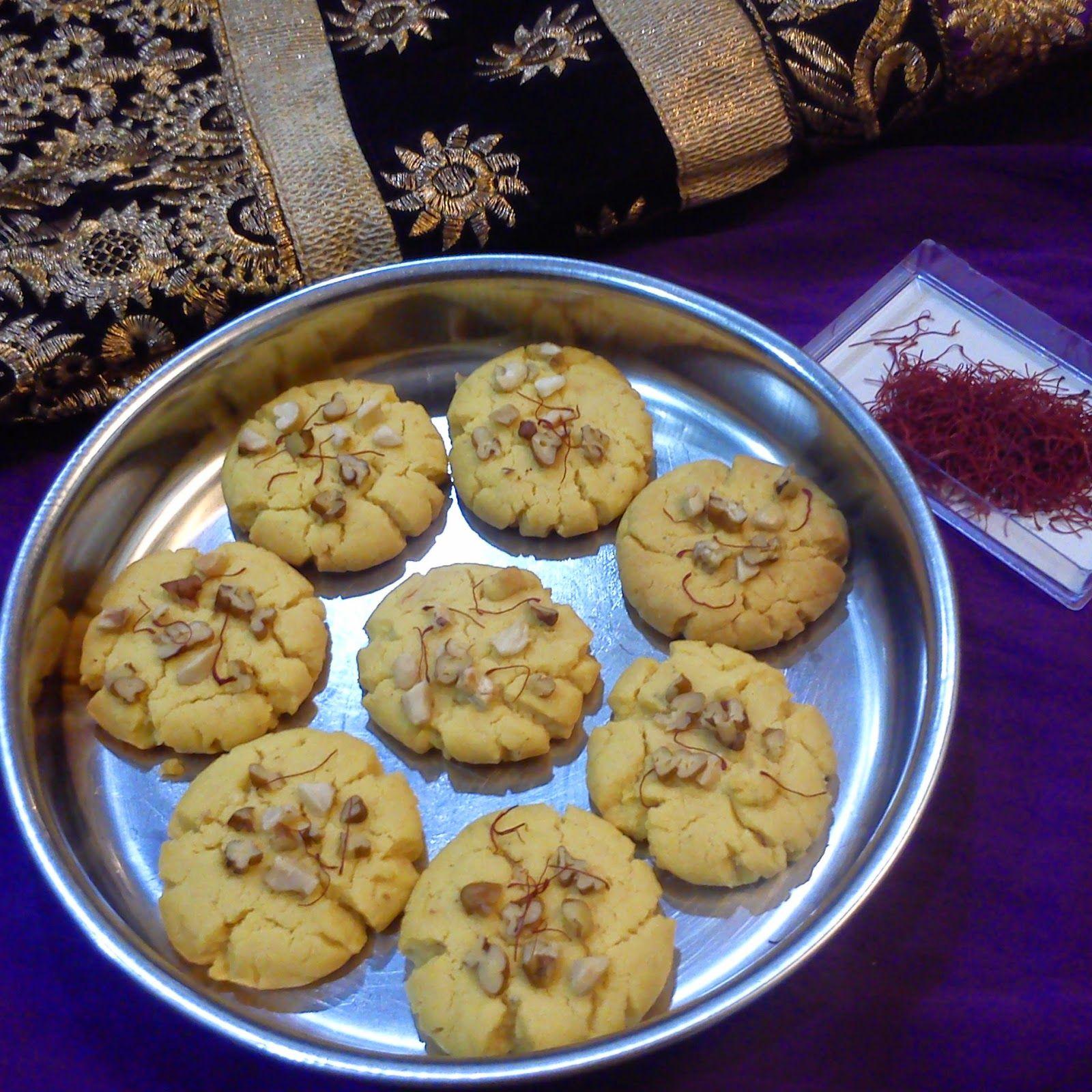 Saffron cardamom cookies