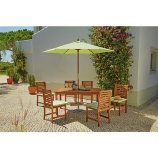 buy madison wooden 6 seater patio furniture set at argoscouk visit