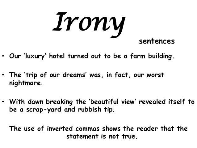 Alan Peat Sentences 2 Sentences Examples Of Dramatic Irony