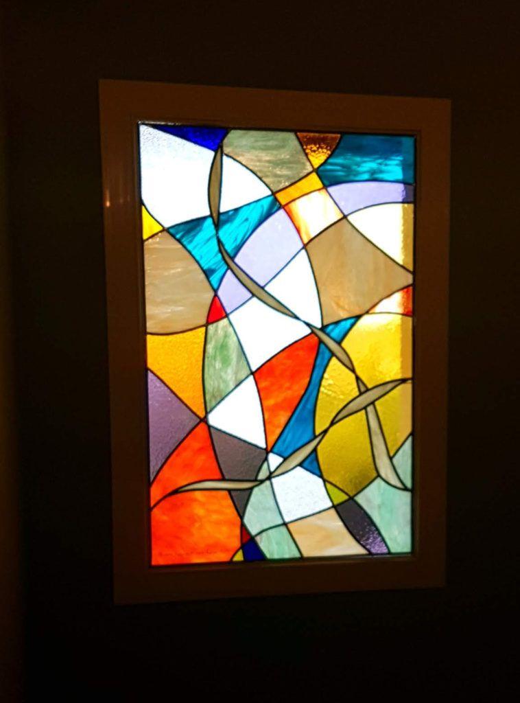 Suncatcher Fleur De Vie Vitrail Vitraux D Art 64 Creation Sur Mesure Bayonne Vitrail Contemporain Vitrail Art Deco