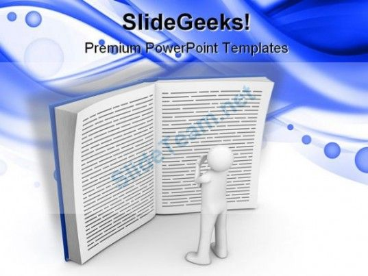 Reading Book Education Powerpoint Template 1110 Powerpoint