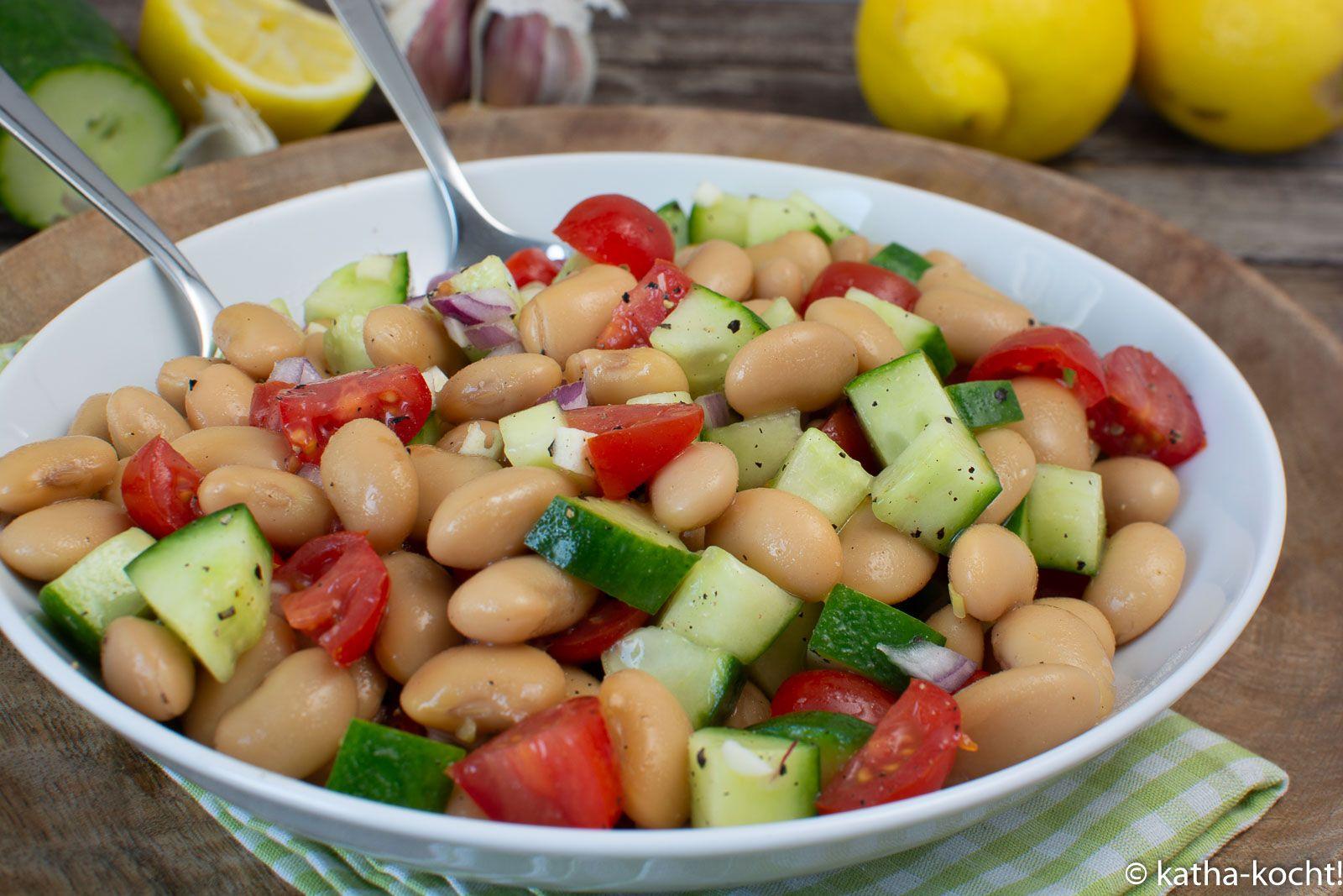 Photo of Frischer Bohnensalat mit Gurke und Tomate – Katha-kocht!