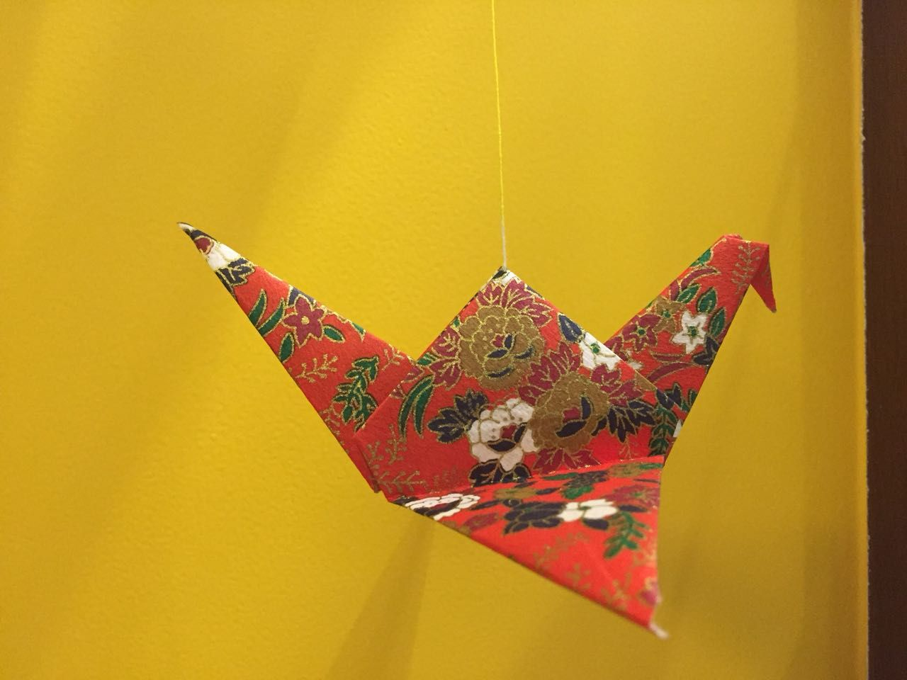 Wall decoration ....!Origami flying bird created by me 🖕 | craft ...