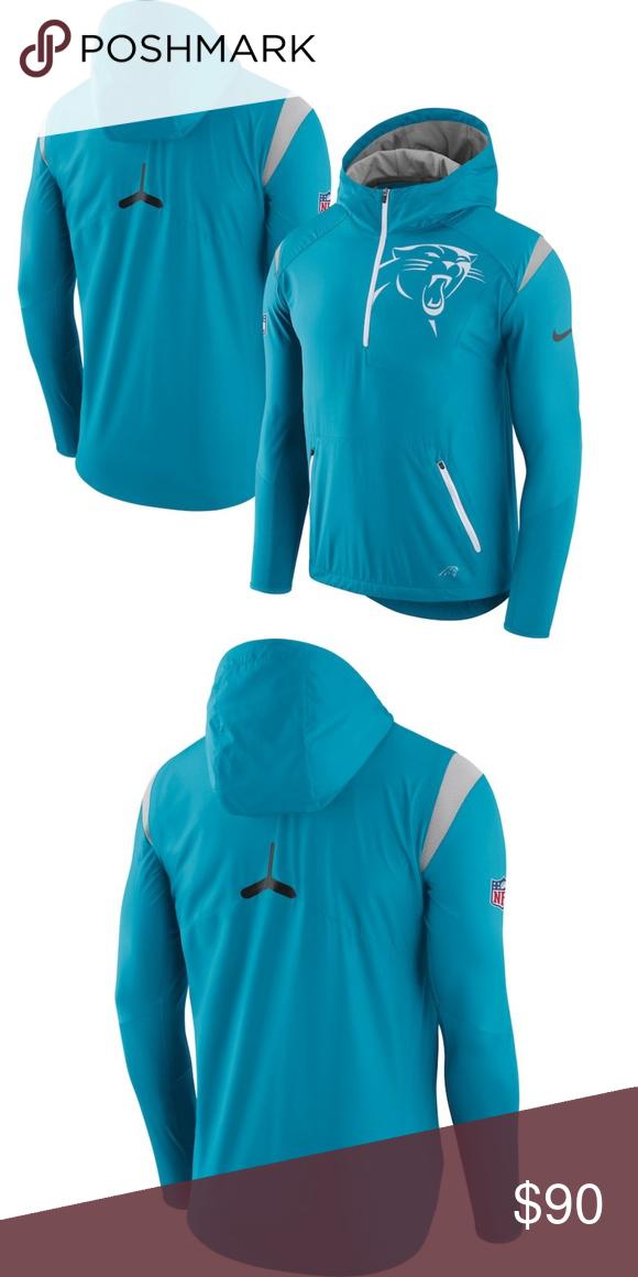competitive price cca86 b7771 Carolina Panthers Nike Blue Sideline Jacket The Carolina ...