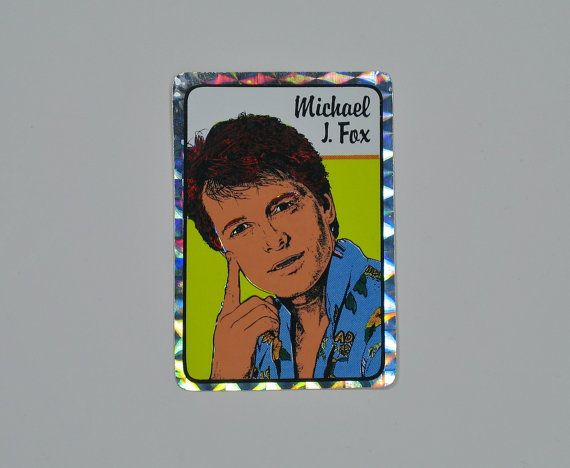 Reserved 80s michael j fox prism sticker decal vending machine holographic reflective marty mcfly alex p keaton back to future