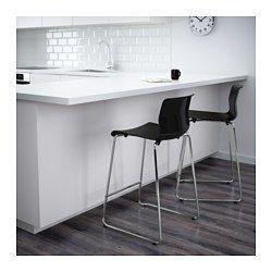 IKEA - GLENN, Baarijakkara, 66 cm, , Istuimessa erikoispinta, joka suojaa erityisen hyvin naarmuilta.Helppo pinota tilan säästämiseksi.