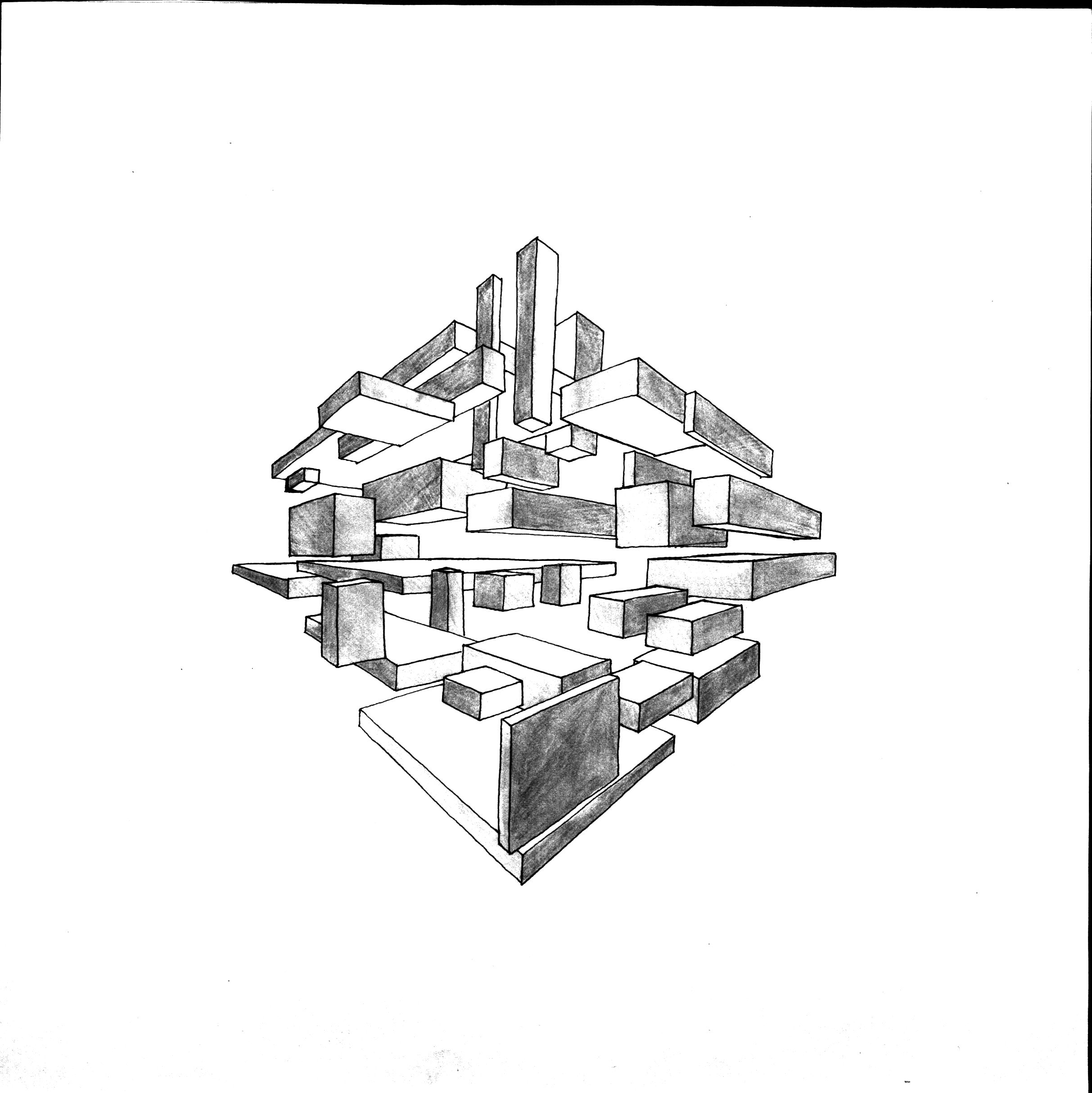 Architecture Blueprints Art two point perspective #art #design #architecture #drawing #sketch