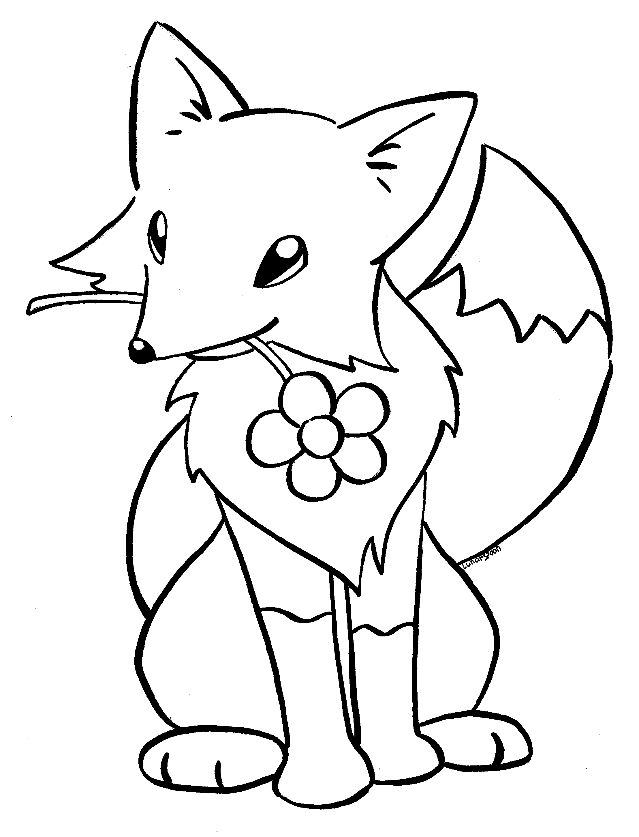 Baby Fox Coloring Pages Page Cute Free Download Printable Images To Within Cute Fox Drawing Fox Coloring Page Baby Animal Drawings