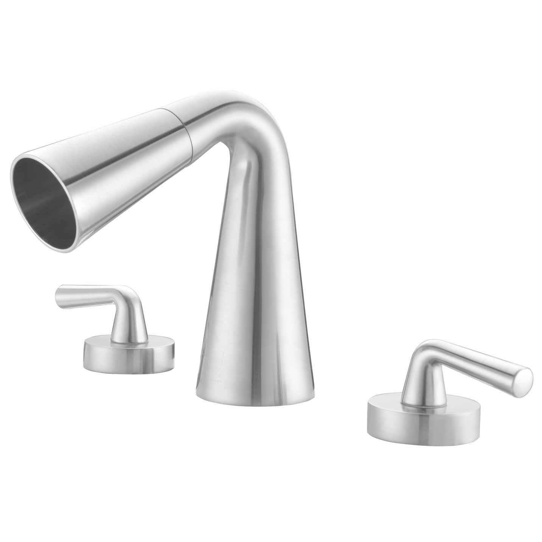 Alfi Brand AB1790 BN Brushed Nickel Widespread Cone Waterfall (Blue) Bathroom  Faucet