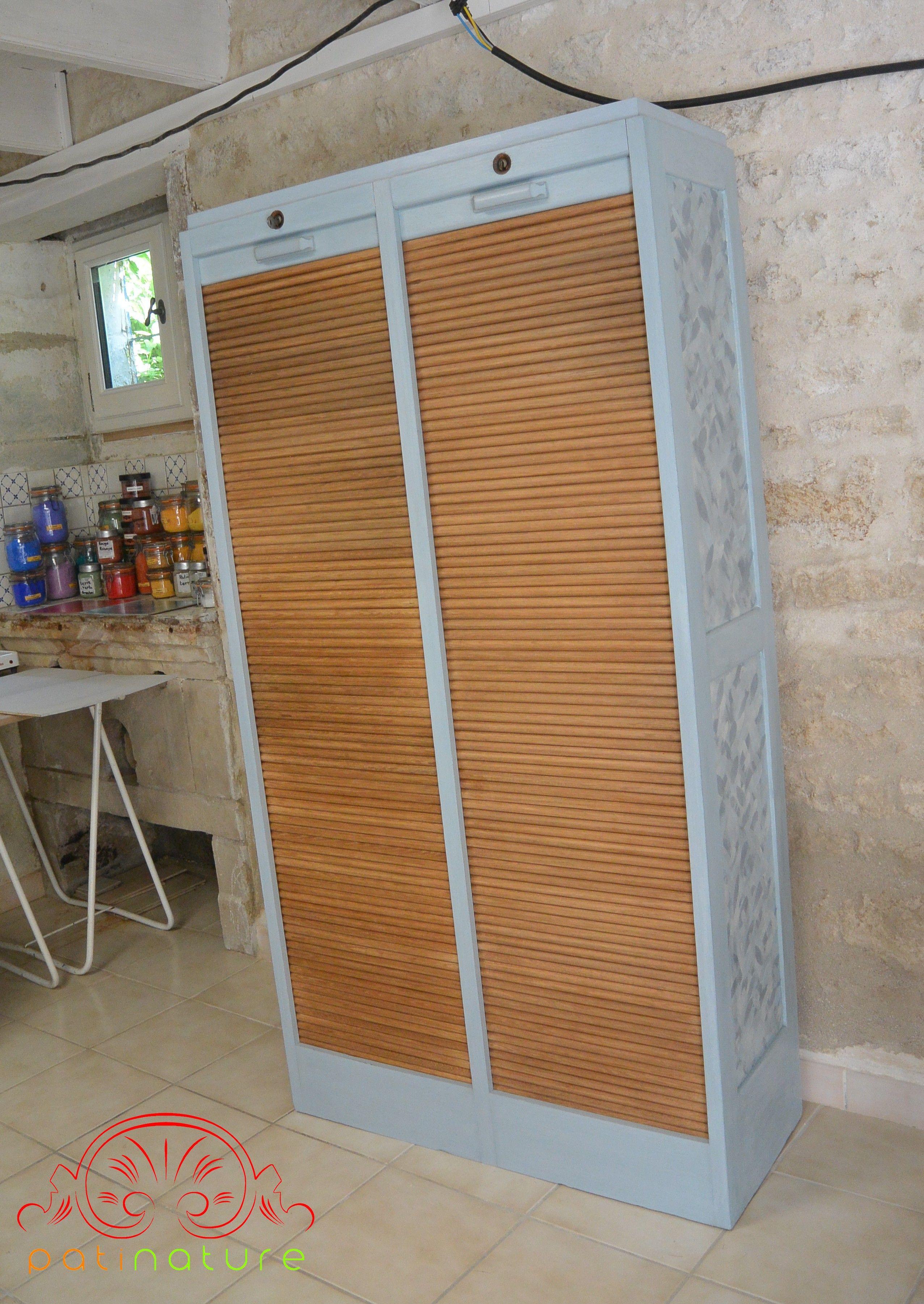 Vendu /Double Classeur à Rideau Patinature (vendu) : Peinture à La Caséine