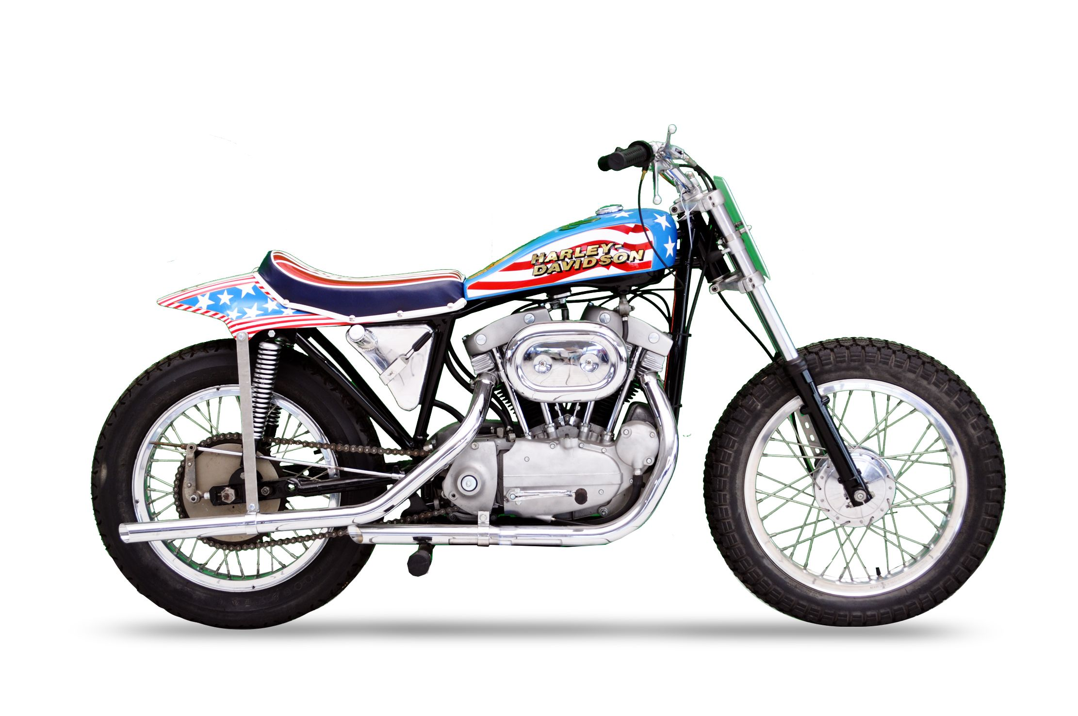 Vintage Evel Knievel In His: 1970 HD Evel Knievel Sportster Replica