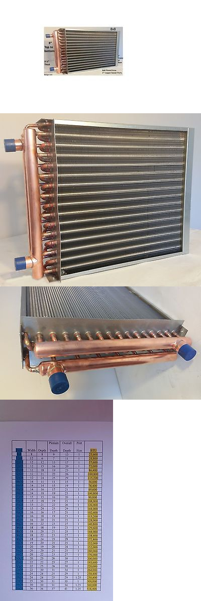 Furnaces and Heating Systems 41987: 8X8 Water To Air Heat Exchanger ...