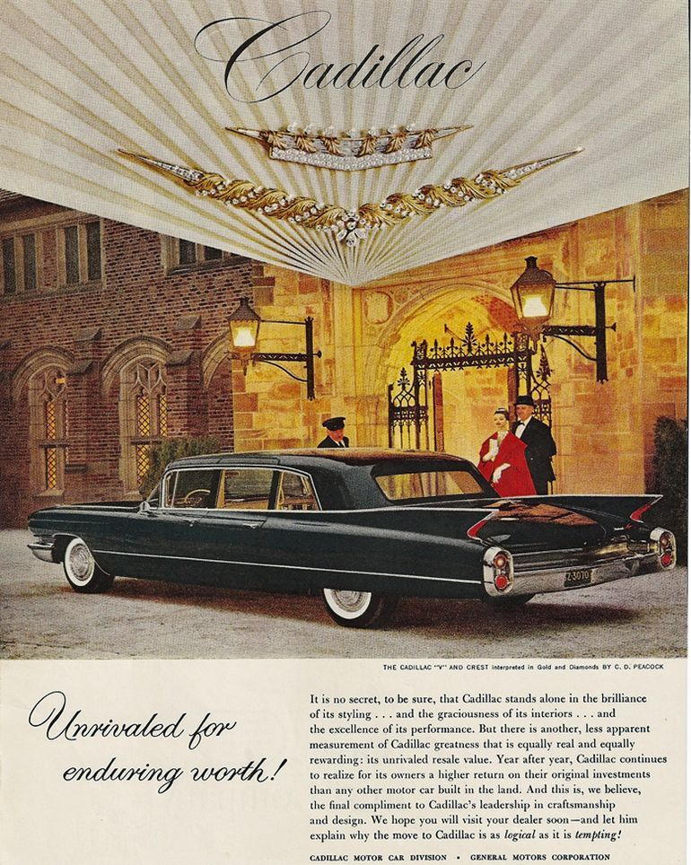 Cadillac  Old Car Ads Home  Old Car Brochures  Old Car