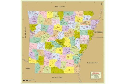 Zip Code Map Arkansas.Arkansas Zip Code Map With Counties Store Mapsofworld Pinterest
