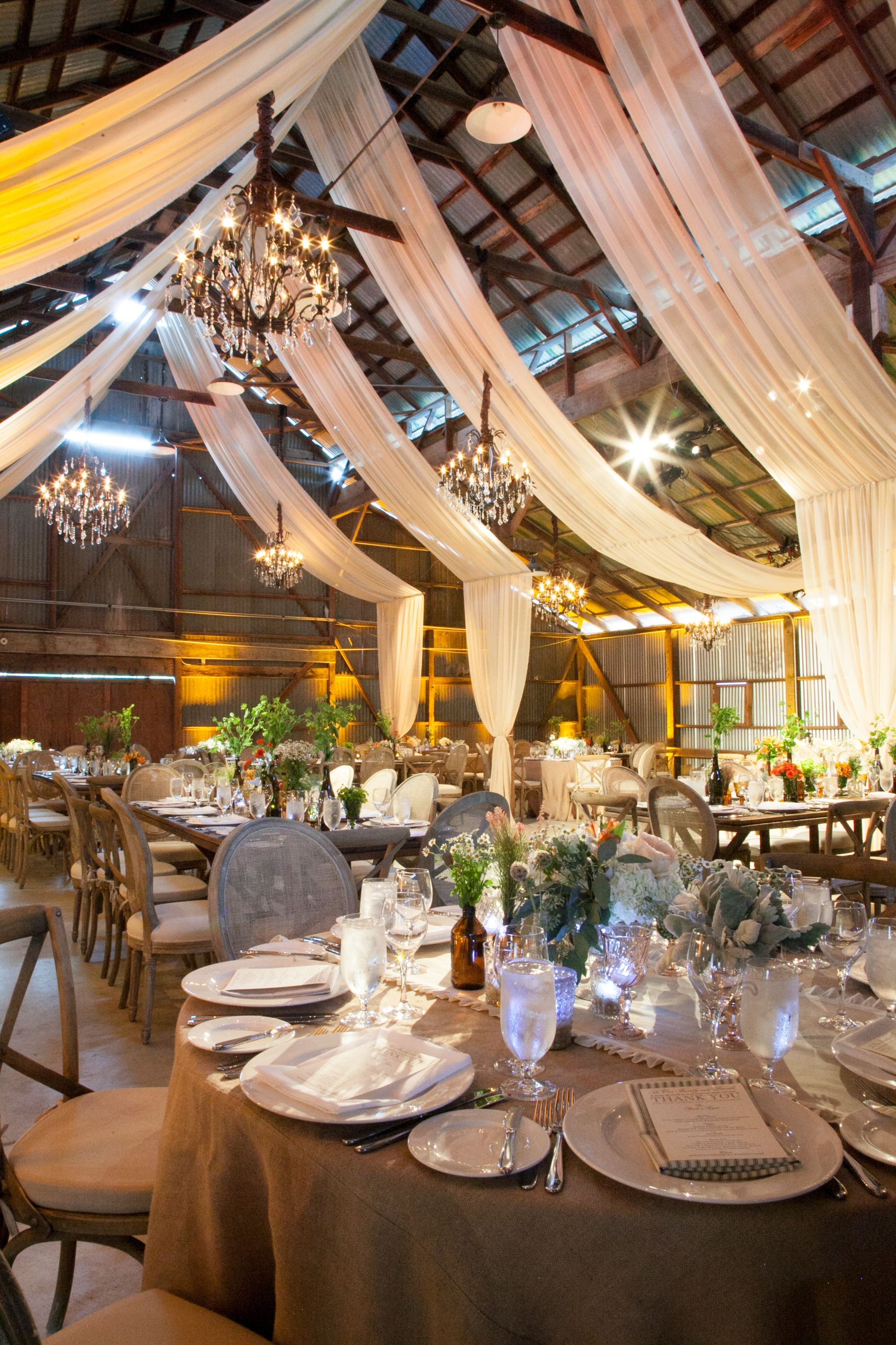 TheDavidTutera Rustic Barn Wedding | Decor | Reception | photo by Michael  Segal Photography