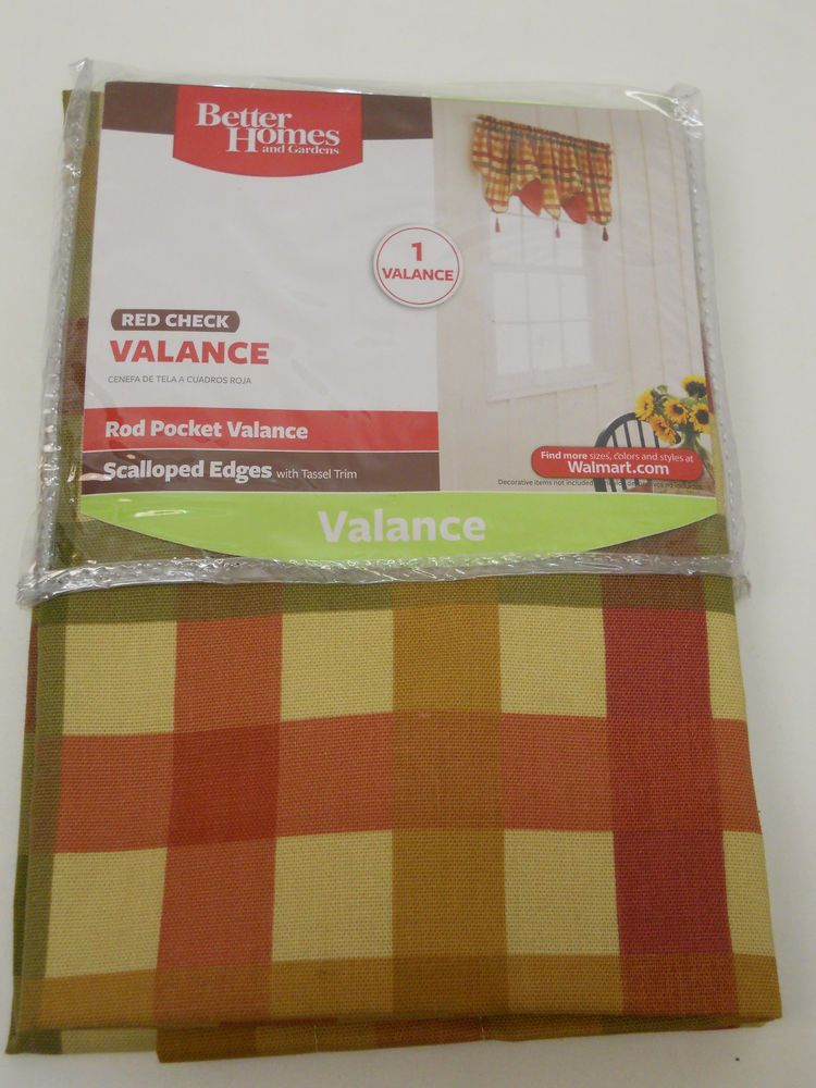 bc677974757494563f1f3ce3539e3dbc - Better Homes And Gardens Red Check Swag Valance