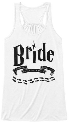 """/"""" I Solemnly Swear.. /""""  Hen Do Party Geek Potter HP Inspired White Vest T-shirt"""