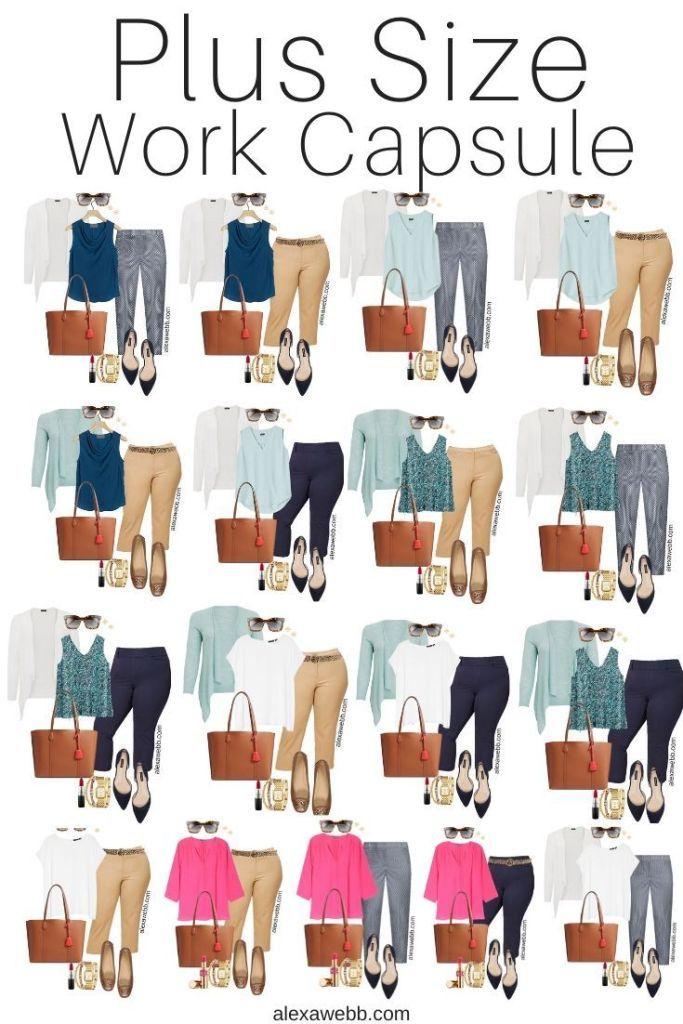 Plus Size Summer Work Capsule Wardrobe - Alexa Webb