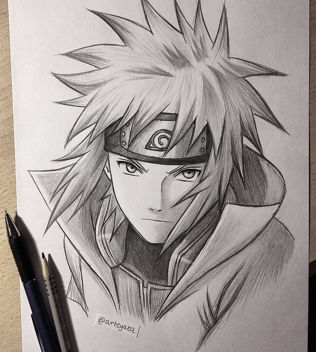30 min sketch of Minato⚡ hope you like it! My school is