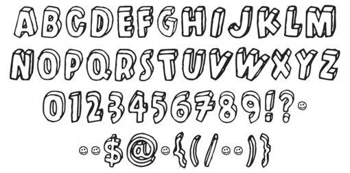 font 3d - ค้นหาด้วย Google | ART | Pinterest | Letter fonts, Block ...