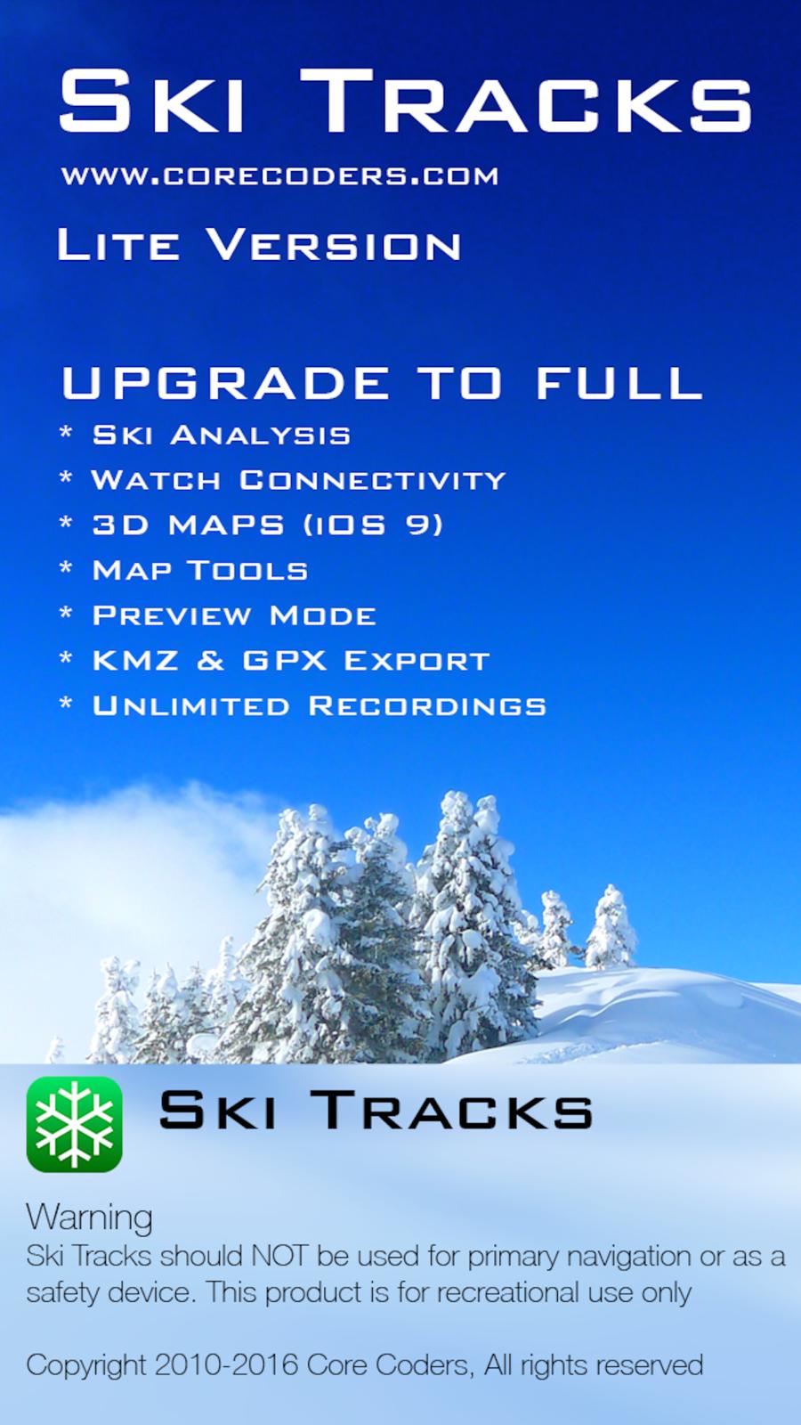 Ski Tracks Lite SportsNavigationappsios Ios apps