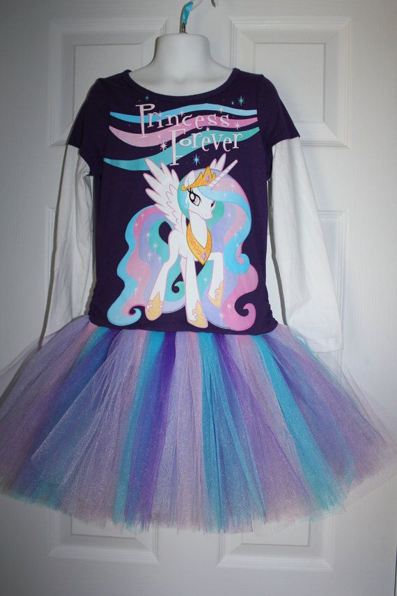 My Little Pony Celestia tshirt tutu birthday dress size 6/7 unicorn ready on Etsy, $28.00