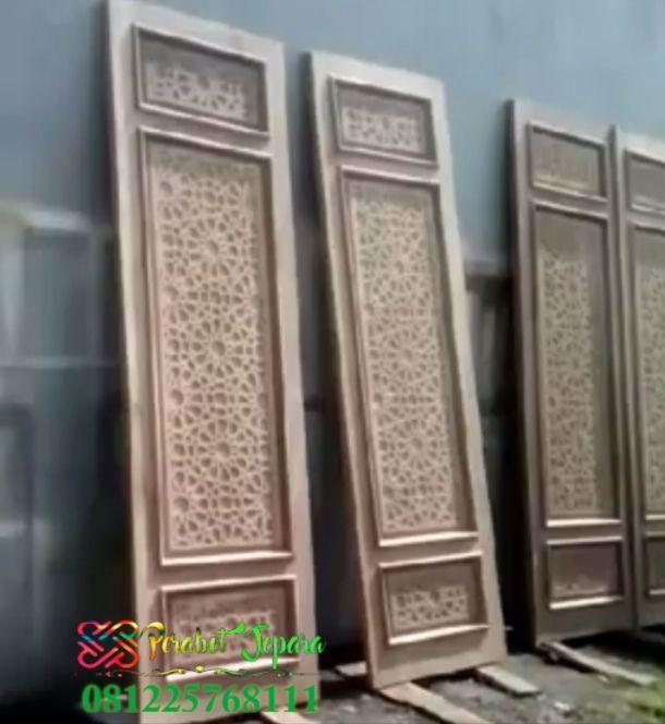 Selling Krawangan Carved Door Jepara Turkish Teak Mosque Bese …