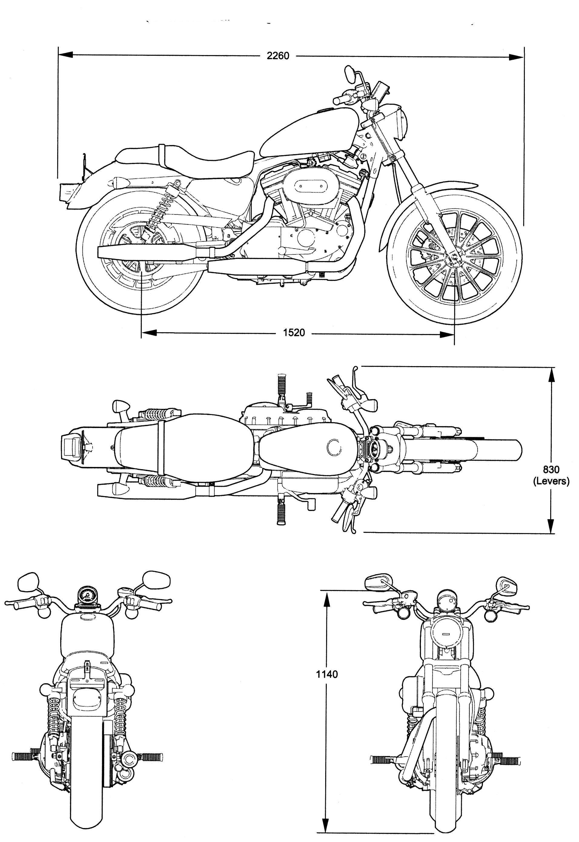 Harley Technical Drawings