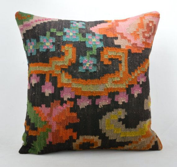 Kilim Pillow 40X40 INC Wool Kilim Cousin From Anatolia 40x40 Simple Cleaning Decorative Pillows