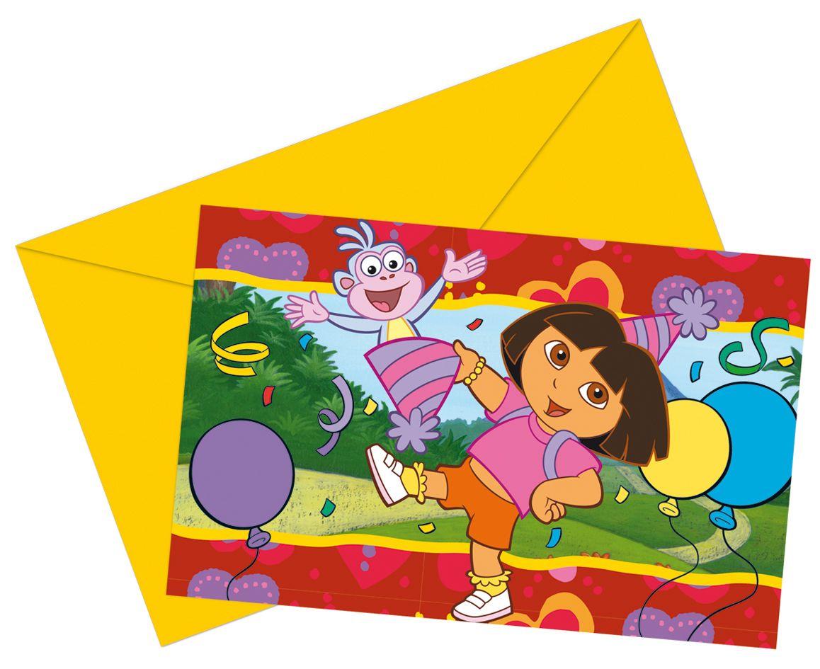 Invitaciones para cumpleaños de Dora la Exploradora | Invitaciones ...