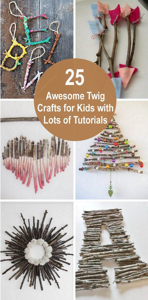 25 Awesome Twig Crafts for Kids With Lots of Tutorials 2019 , #Awesome #Crafts #Kids #LOTS #...