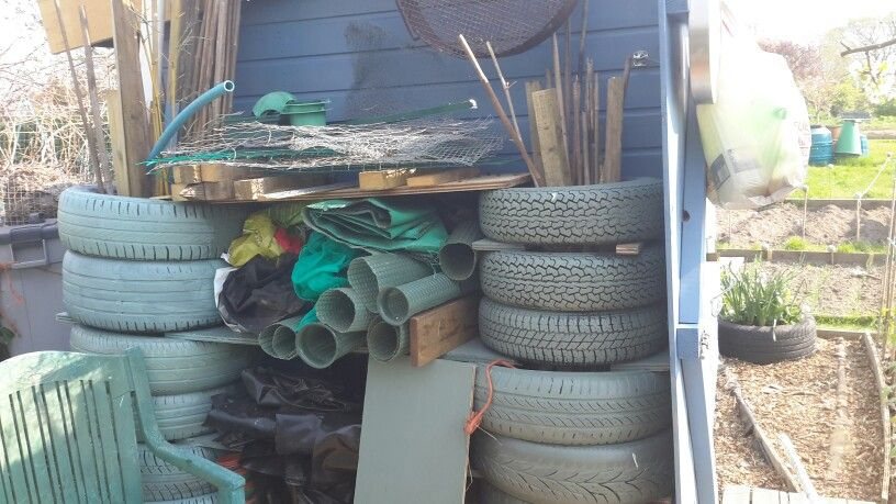 Tyres storage at allotment