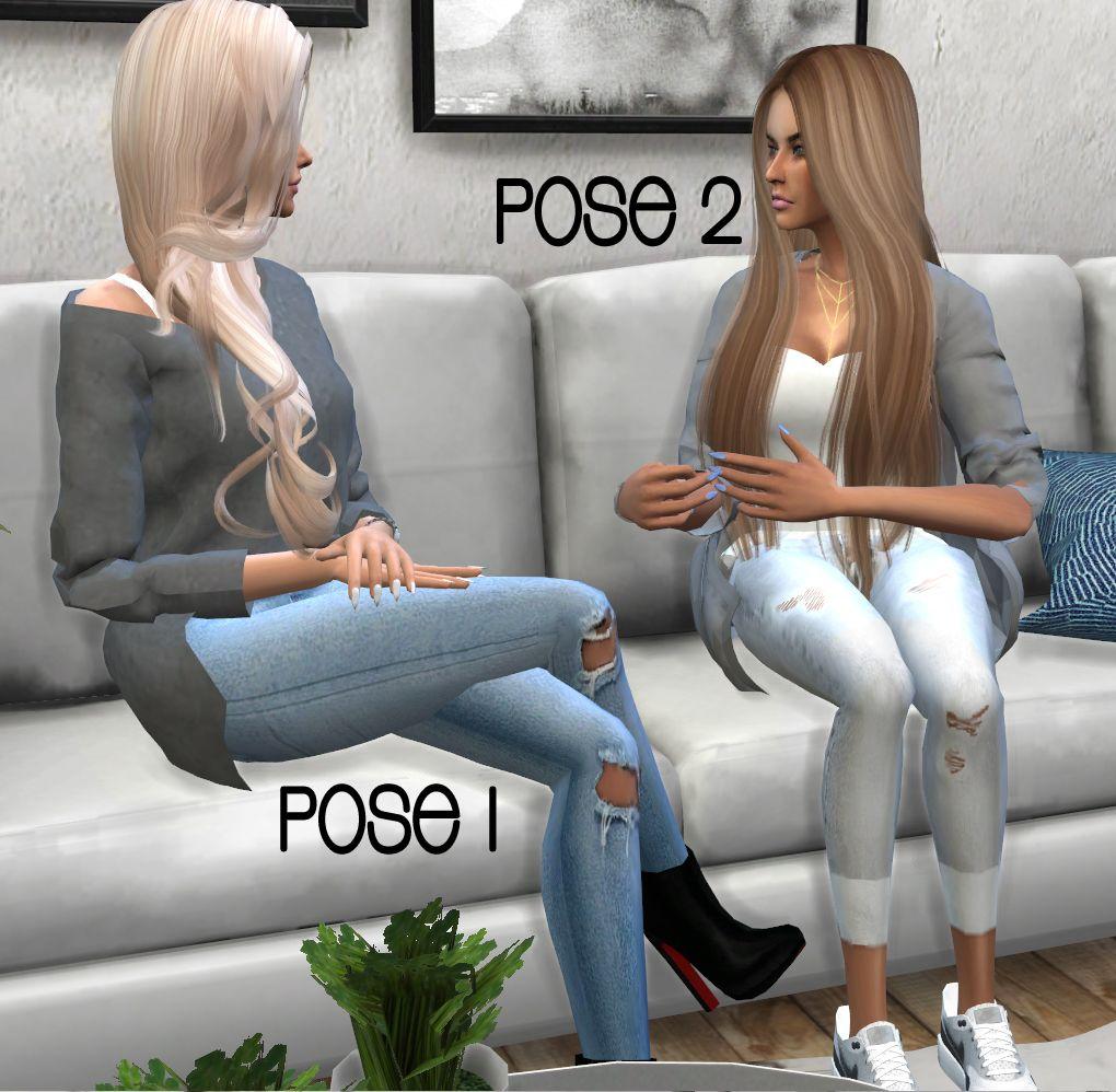 AnotherSimsStory] - Talking Pose pack 1• 3 poses • Ingame