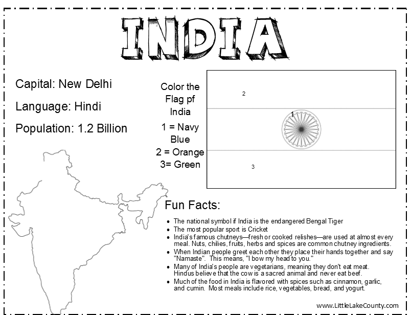 India Coloring Page | Coloring Pages & Printables ...