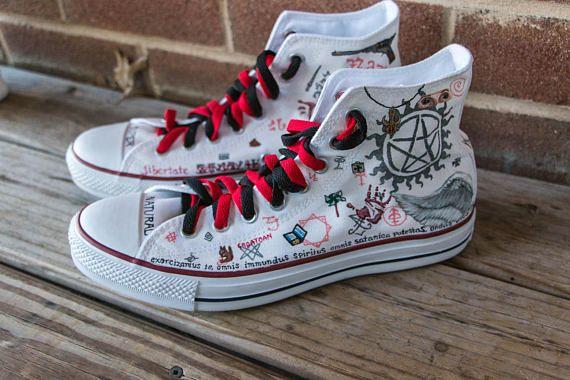 0f66c65da40b Supernatural Shoes -- LIMITED EDITION custom Chuck Taylor Converse ...