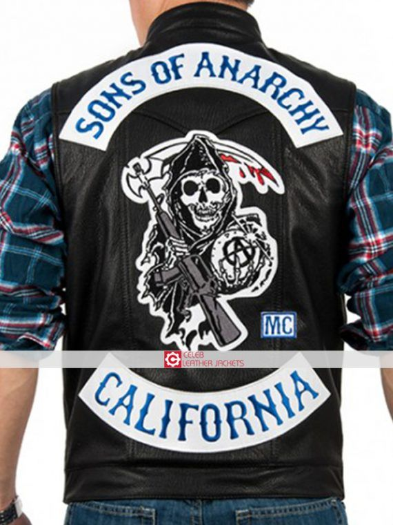 Sons Of Anarchy Vest Charlie Hunnam Jax Teller Vest Leather Sons Of Anarchy Vest Sons Of Anarchy Hoodie Women Leather Vest