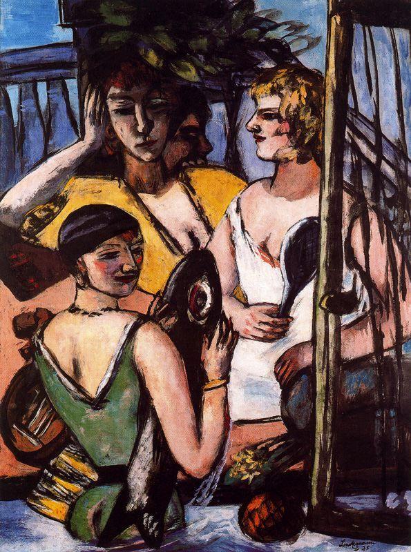 drawpaintprint max beckmann the three sisters 1935 moderne kunstler expressionismus acrylbilder abstrakt berlinische galerie shop