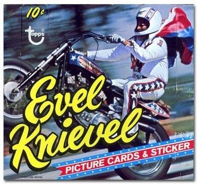 Topps evel knievel card set with stickers