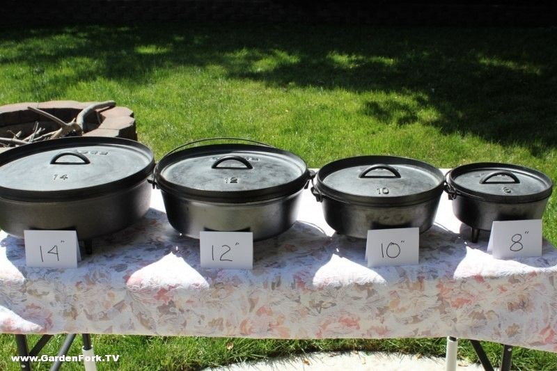 Sizes with quarts listed | Dutch oven cooking, Dutch oven ...
