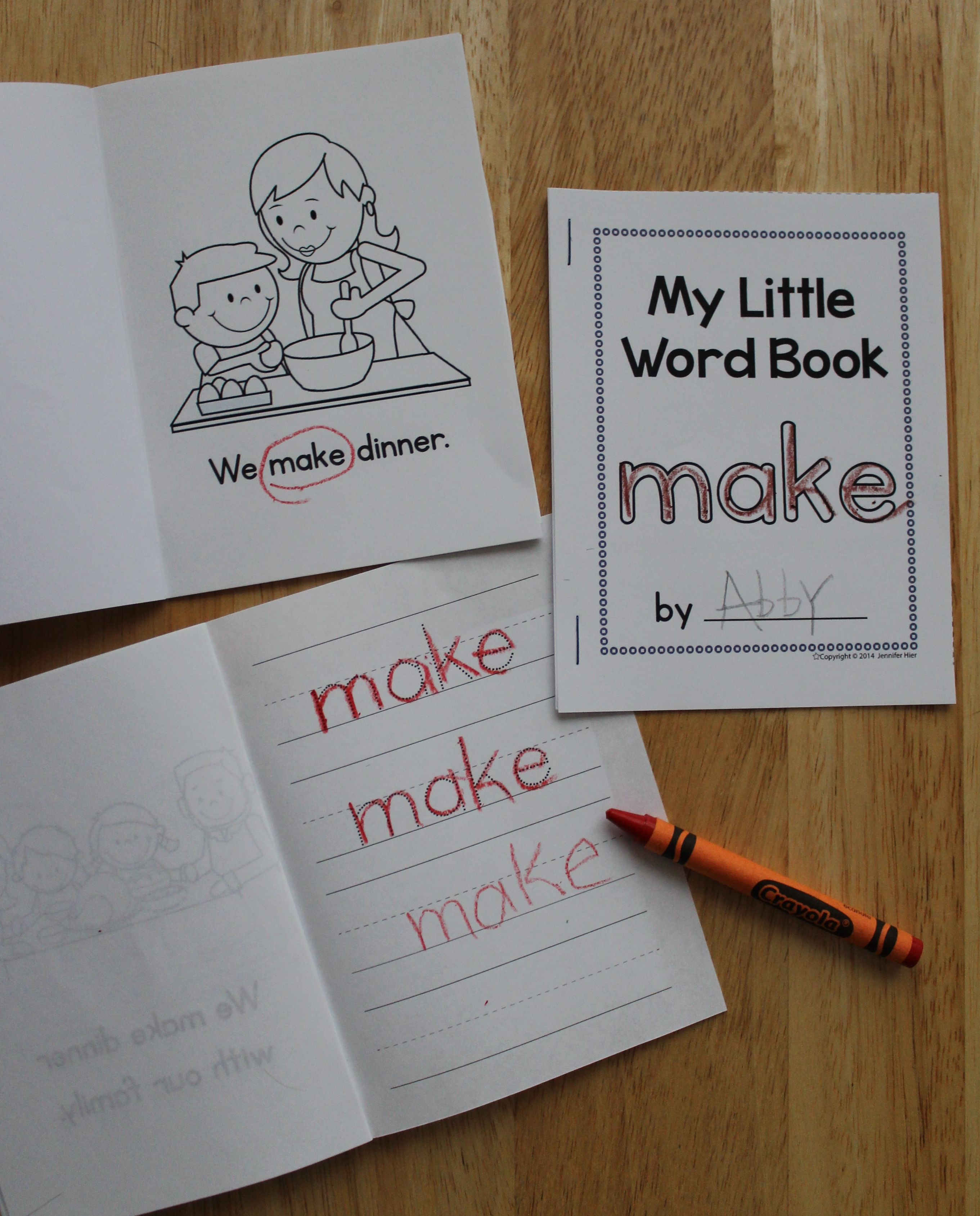 Little Sight Word Books Are Easy To Assemble Sight Word