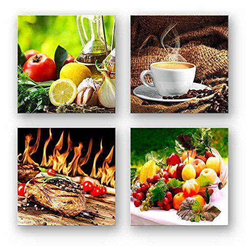küchen bilder set c schwebend 4 teiliges bilder set jede https