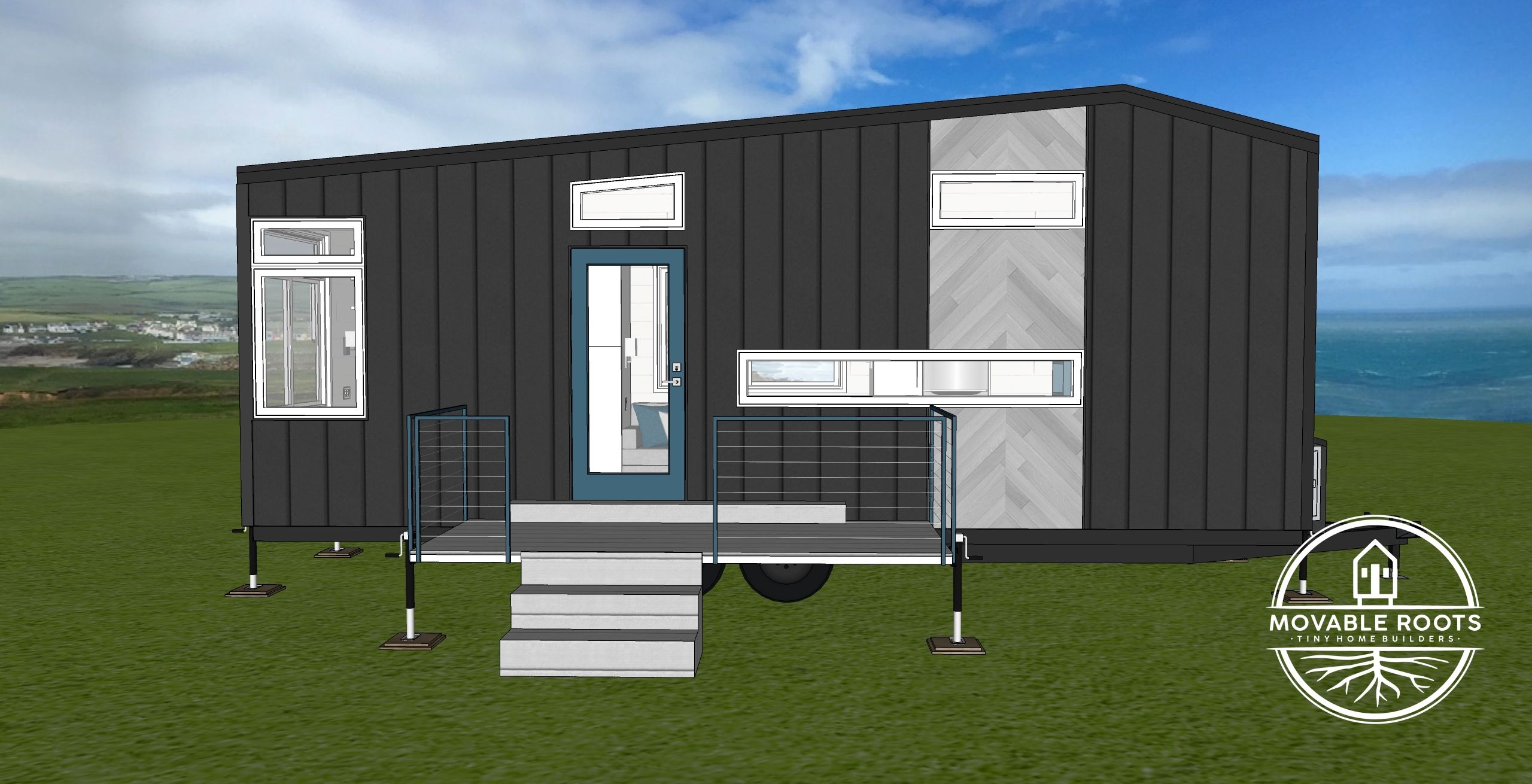 The Grant Rendering Outside Front  Tiny house luxury, Home