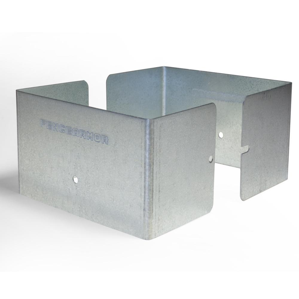 Fence armor 6 in l x 6 in w x 14 ft h galvanized steel