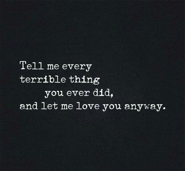 I'll love you anyway..